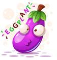 cute eggplant - cartoon characters vector image vector image