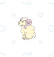 cute lamb girl in the clouds vector image vector image