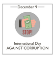 Day Against Corruption vector image