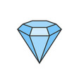 diamond flat icon vector image vector image