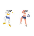 female tennis player hand drawn vector image vector image