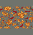 floral seamless pattern with autumn leaves and vector image vector image
