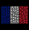 france flag mosaic of air plane icons vector image