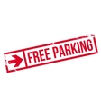 Free Parking rubber stamp vector image