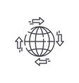 global distribution line icon concept global vector image vector image
