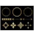 gold frames and vintage elements vector image