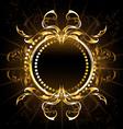 Golden Tribal Frame vector image