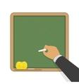 Green blank classic school board vector image vector image