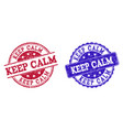 grunge scratched keep calm seal stamps vector image