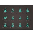 Laboratory glass and flask icons set vector image