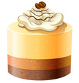 Layer cakes with creame topping vector image vector image