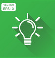 light bulb icon business concept idea lightbulb vector image vector image