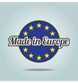 Made in Europe vector image vector image