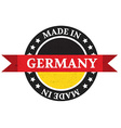 Made in Germany badge vector image vector image