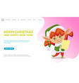 merry christmas and happy new year female elf vector image vector image