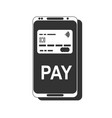 mobile payment nfc smart phone concept flat icon vector image vector image