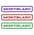 montblanc watermark stamp vector image vector image