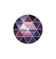 multi color gem stone round diamonds on vector image vector image