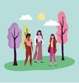 people celebration friendship day design vector image vector image