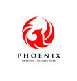 phoenix circle vector image vector image