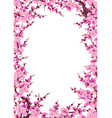 plum blossom branches vertical frame vector image vector image