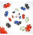 Pocker Chips Rain Winner Concept isolated vector image vector image