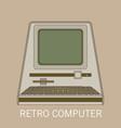 retro computer flat vector image vector image