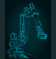 robotic arm for automated production lines vector image