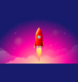 rocket launchship concept of vector image vector image