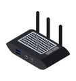router icon isometric icon isolated vector image vector image