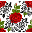 seamless from roses vector image vector image