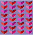 seamless pattern with hearts in pink tones vector image vector image