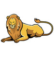 Sitting Lion vector image