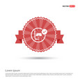 snorkeling icon - red ribbon banner vector image