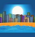 summer beach city vector image vector image