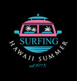 surfing hawaii summer estd 1978 logo design vector image vector image