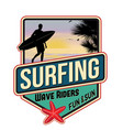 surfing travel sticker vector image