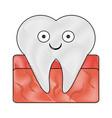 tooth dental symbol cartoon smiling vector image vector image