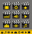 video and audio icons set vector image vector image