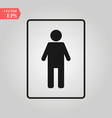 wc toilet sign door wall plate restroom icon vector image