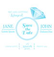 Wedding Invitation Card with Diamond Ring vector image vector image