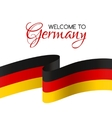 welcome to germany card with flag germany vector image vector image