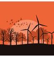 Wind power vector image
