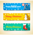 winter holidays horizontal banners vector image vector image