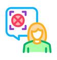 woman refusal mark icon outline vector image vector image