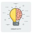 idea and creativity thin line concept vector image