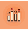 Growing graph flat icon vector image
