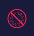 antibacterial no bacteria icon