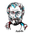 aristotle portrait vector image vector image