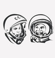astronaut yuri gagarin stylized symbol first vector image vector image